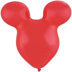 "Mousehead Latex Balloon, Ruby Red, 15""/38cm, Qualatex 43854, 5 pieces"