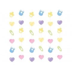 Decor de agatat Baby Shower 2.13m, Amscan 679662, Set 6 buc