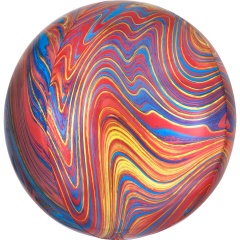 Marblez Colorful Foil Balloon - 38 x 40 cm, Radar 41397