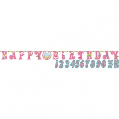 Banner Woodland Princess Add an Age - 120 x 45 cm, Radar 121623