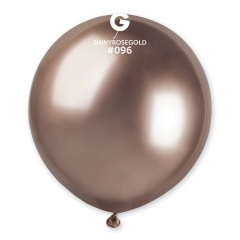 Balon Latex Jumbo Shiny Rose Gold- 48 cm, Gemar GB150.91, set 5 buc