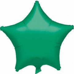 Balon folie verde metalizat stea - 48cm, Amscan 20359