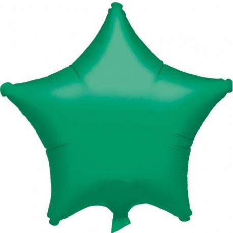 Balon folie verde metalizat cu forma de stea - 48 cm, Amscan 20359-40, 1 buc