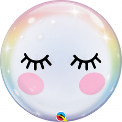 "22"" Eyelashes Bubble Balloon, Q 13009"