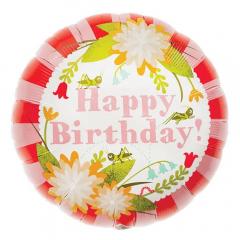 Balon Folie 45 cm Floral Birthday, Northstar Balloons 00349