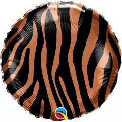 Tiger Stripes Pattern Foil Balloon, Qualatex 13334