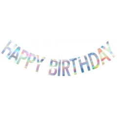 Letter Banner Happy Birthday - 2 m, Qualatex 15994