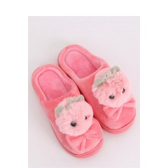 Papuci pufosi de casa forma iepuras - roz, Radar 039, marimi 37-38