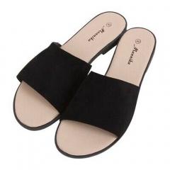 Black women's slippers, Radar 041, sizes 38-39