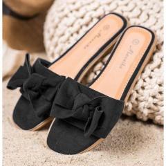 Black women's slippers, Radar 041, sizes 37-38