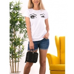 Cotton T-Shirt - Blink Eyes, Radar 021, 1 piece