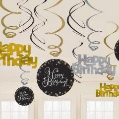 Serpentine metalizate pentru decor petreceri - Amscan 9902278, Set 3 role