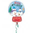 Balon folie figurina Craciun Happy Holidays - 38x50 cm, Amscan 33976