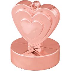 Heart Shaped Balloon Weight - Rose Gold, Qualatex 14793
