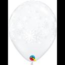 "11"" Snowflakes Printed Latex Balloons, Q 79210"