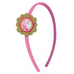 Coronita roz Magical Unicorn, Amscan 250807, 1 buc