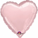 """18"""" Pearl Pastel Pink Heart Foil Balloon, A 80043"""