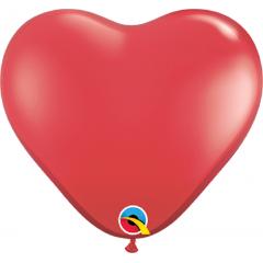 "Baloane latex inima 6""/16 cm Ruby Red, Q 43647"