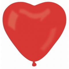 "12"" Red Heart Latex Balloons, A12.INIMA.ROSU"