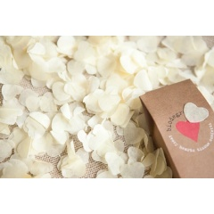 Ivory Hearts Paper Party Confetti, 934486