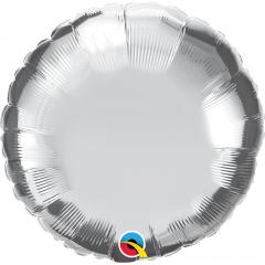 Folie 45 cm rotund argintiu metalizat, Q 23145