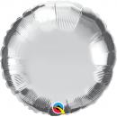 """18"""" Metallic Silver round foil balloon, Q 23145"""