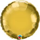 """18"""" metallic gold round foil balloon, Q 35431"""