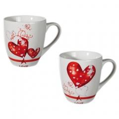 New bone china mug with Hearts, OOTB 101797