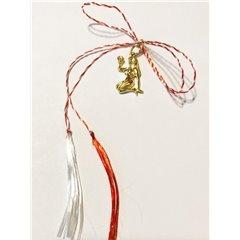 Martisor handmade placat cu aur 14K, ZODIA FECIOARA , 2 cm