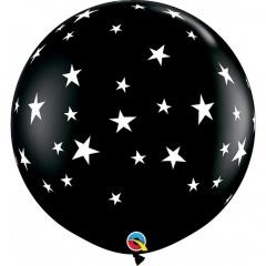 Balon latex Jumbo 3ft inscriptionat - Contempo Stars Gender Reveal, Q 88280, 1 buc