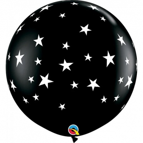 Balon latex Jumbo 3ft inscriptionat - Contempo Stars Gender Reveal, Q 88280, 1 buc