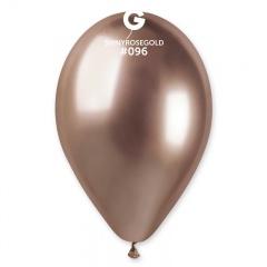 Baloane latex 33 cm Rose Gold- Shiny (Chrome), Gemar 120.96, set 10 buc