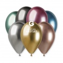 10 Latex Balloons Shiny Assorted, Gemar 120.ASS