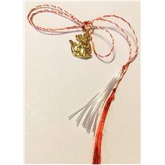 Martisor handmade placat cu aur 14K, Neptun, aprox.2 cm