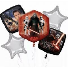 Buchet baloane folie Star Wars, A 31625, set 5 bucati