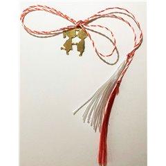 Martisor handmade placat cu aur 14K, baietel & fetita, 1,8 cm