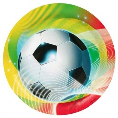 Farfurii carton Soccer Party - 23 cm, Amscan 552562, set 8 buc