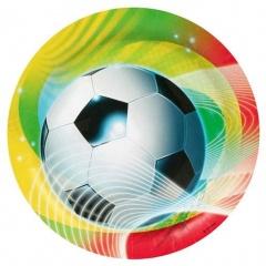 Soccer Party Plates, 23 cm,  8 pieces, Amscan 552562