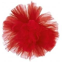 Decor sala din tulle rosu pentru evenimente, Radar 41191, 1 bucata