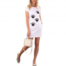 Cotton Short Dress - Paws, Radar 020