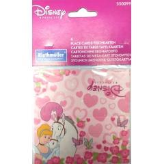 Carduri masa Printese Disney, Amscan 550099, Set 6 buc