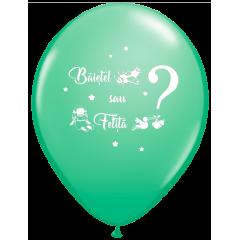 Balon Latex Jumbo 48 cm - Baietel sau Fetita?, diverse culori, Radar, 5 buc