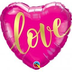 Folie 45 cm inima - Love, Qualatex 16766, 1 buc