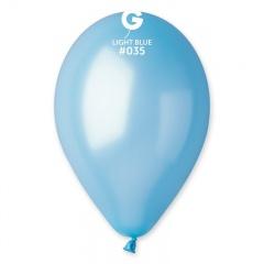 Light Blue 35 Metallic Latex Balloons , 10 inch (26 cm), Gemar GM90.35, Pack Of 100 pieces