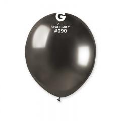 Baloane latex 5''/13 cm Space Grey - Shiny (Chrome), Radar 50.90