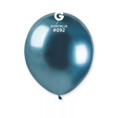Baloane latex 5''/13 cm Blue - Shiny (Chrome), Radar 50.92