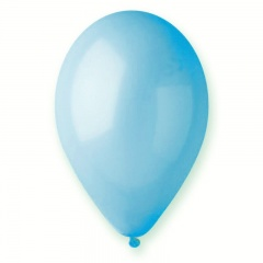 Light Blue 09 Latex Balloons , 10 inch (26 cm), Gemar G90.09, Pack Of 100 pieces