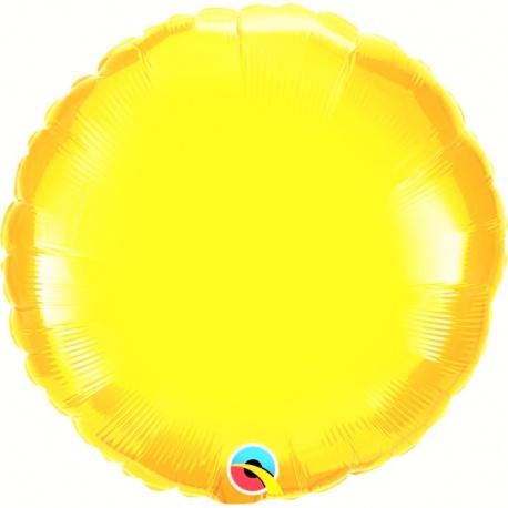 "Metallic Citrine Yellow Circle Foil Balloon - 18""/45 cm, Northstar Balloons 00739, 1 piece"