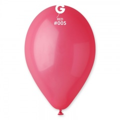 Red 05 Latex Balloons , 10 inch (26 cm), Gemar G90.05, Pack Of 100 pieces