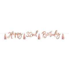 Letter Banner Happy Birthday - 2.74 m, Radar 120603